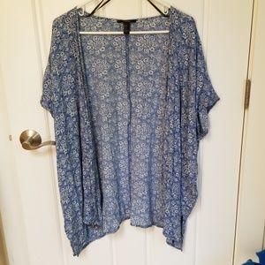 Forever 21 Short Sleeve Blue Kimono